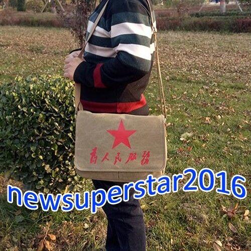 Chairman Mao Canvas Shoulder Messenger Bags Crossbody Satchel Lei Feng Pentagram