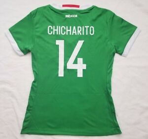 21832ca3671 CHICHARITO #14 Women's Mexico Home 2016 Unbranded Lime Green Soccer ...