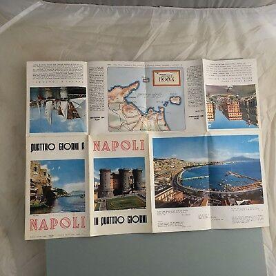Napoli Centro Citta Mare Collina Itinerario Brochure Depliant Anni 50 Turismo Ebay
