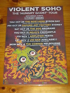 VIOLENT-SOHO-2013-HUNGRY-GHOST-Australian-Tour-Laminated-Promotional-Poster