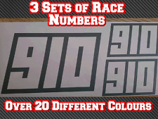 3 Sets Motorbike Track Race Sports Bike Custom Number Vinyl Sticker Decals D2