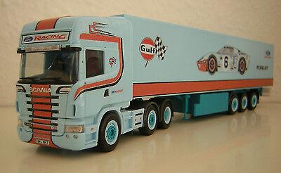 """NEU Decal für Scania R09 Topline SZ /"""" FORD GULF Racing /"""" 1//87 Eigenbau"""