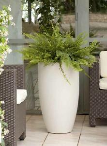 Vaso resina cilindro bombato alto 70 col bianco perla for Vasi per piante