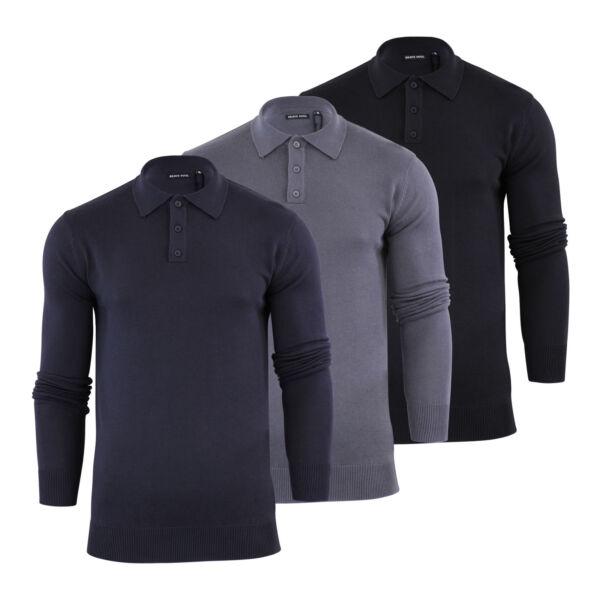 2019 úLtimo DiseñO Camiseta Polo Para Hombre De Punto Brave Soul Jumper Tapeta Con Cuello-ver Alta Seguridad