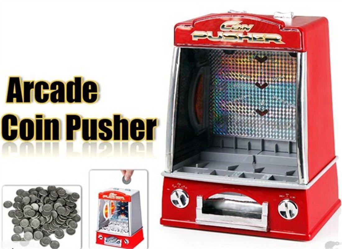 Lustige mini - arcade - schausteller - münze pusher spiel replik penny dealer kinder
