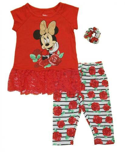 Minnie Mouse Girls Red Legging /& Scrunchie Set Size 2T 3T 4T 4 5 6 6X