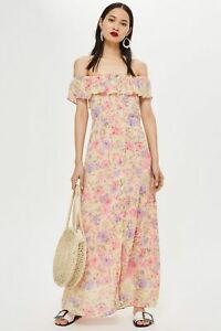 top style biggest discount first rate Details about Topshop Bardot Floral Maxi Dress Petite 6