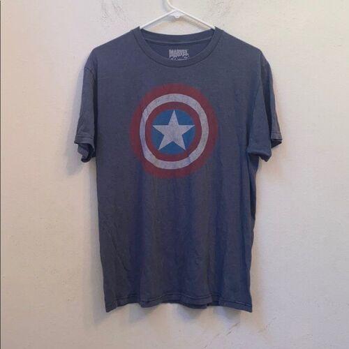 Marvel Comics Herren-T-Shirt Captain America /'Simple/' Grau