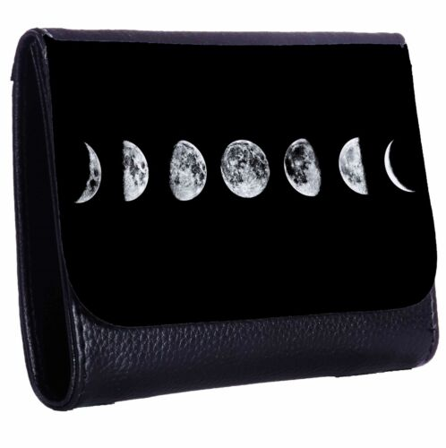Moon Phases Tri-Fold Wallet w// Button Pocket