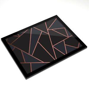 Glass-Placemat-20x25-cm-Rose-Gold-Black-Art-Deco-Elegant-Pattern-24121