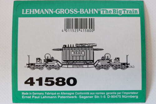 LGB Original Sticker 41580 Low Loading Wagon With D-E-A-G Throttle Control
