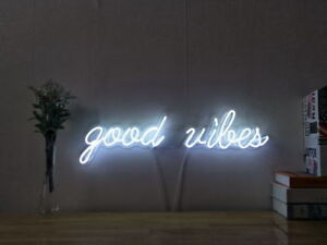 ... New Good Vibes Neon Sign For Bed Room
