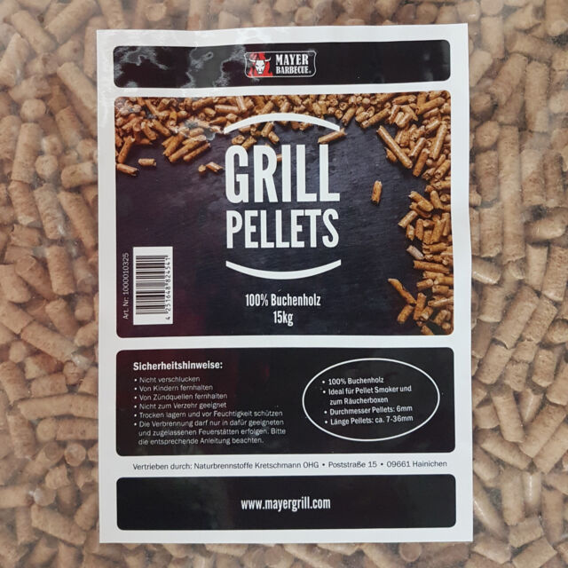 TOP 15 kg Grillpellets Räucherpellets Buche//Eiche Pellets BBQ Smoker  Ø 6mm