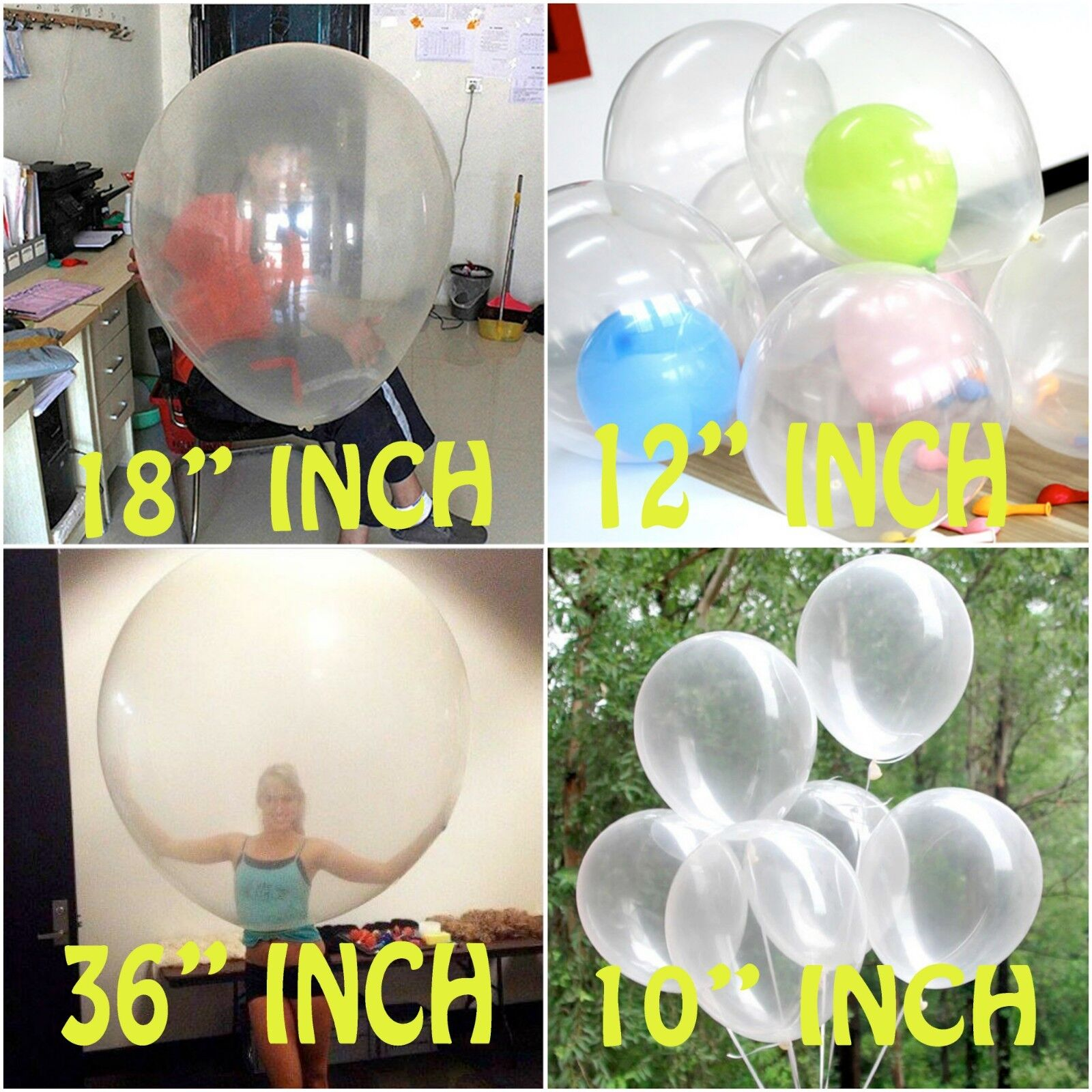 Wholesale Round Clear Transparent 18