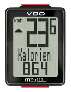 VDO M2.1 WL Black 30025 kabellos Funk-Fahrradcomputer Biketacho Fahrradtacho