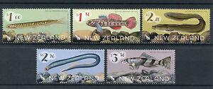 New-Zealand-NZ-2017-MNH-Native-Freshwater-Fish-5v-Set-Eels-Lamprey-Fishes-Stamps