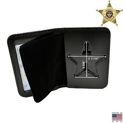 Florida Sheriff Neck Badge Holder ID Case 5 Point Star Recessed Cut Undercover