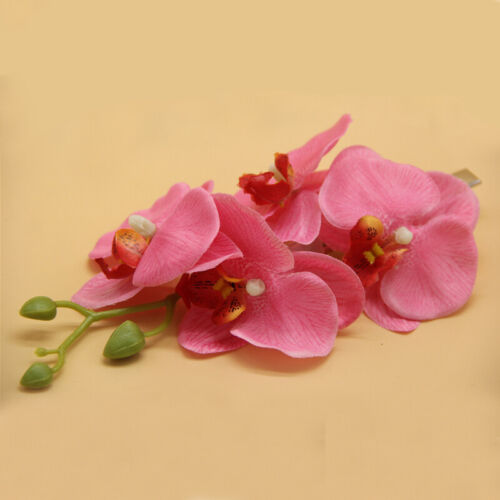 Butterfly Orchid Artificial Flower Hair Clip Alligator Barrette Hairpin Bridal