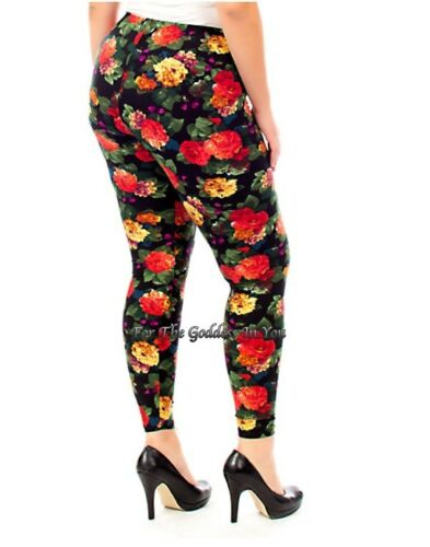 P38 ROSE GRADER BLACK BACKGROUND SOFT WARM LEGGINGS WOMENS SIZE M