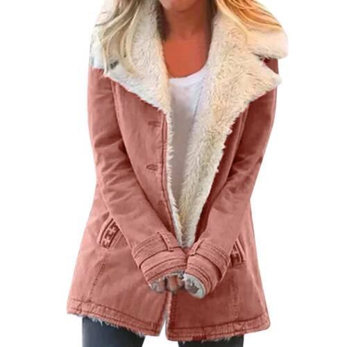 Women/'s Fleece Warm Jacket Coats Outerwear Ladies Casual Winter Parka Overcoat