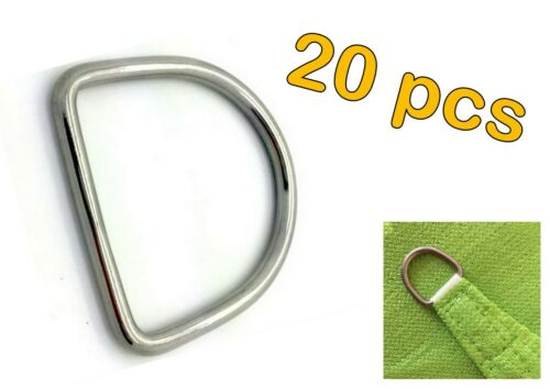5mm x 35mm 20pcs STAINLESS STEEL 316 DEE D RING MARINE DECK SHADE SAIL
