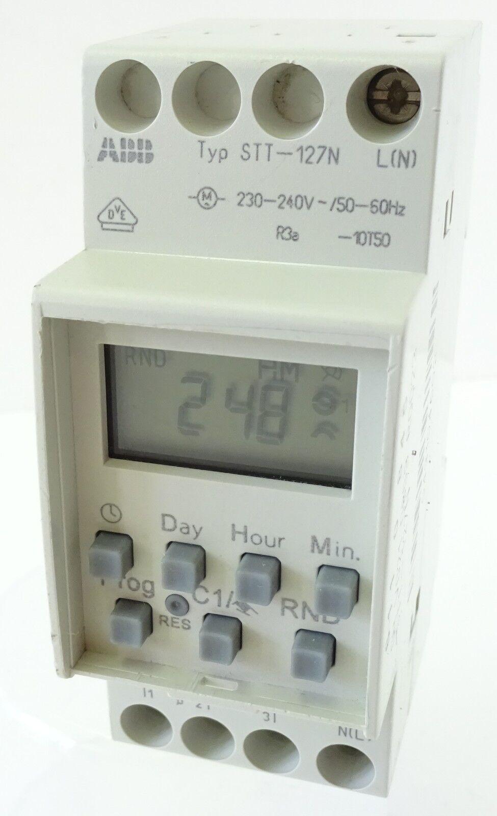 ABB STT-127N Zeitschaltuhr Schaltuhr 6110845 Digital Timer mit Gangreserve STT