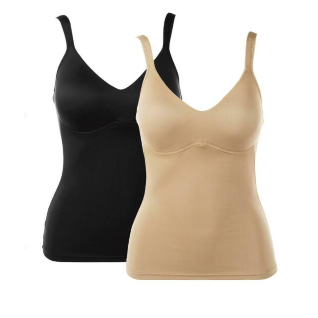 Rhonda Shear Molded Cup Camisole-Nude-Medium-NEW