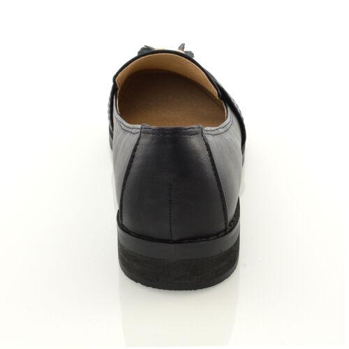 femmes MOCASSIN NOIR MAT Gland décontractés pour dames chaussures travail école