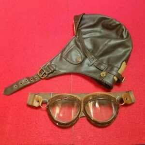 Military Imperial Japan Aviation Goggles Cap Former Naval Air Corps Eyeglasses
