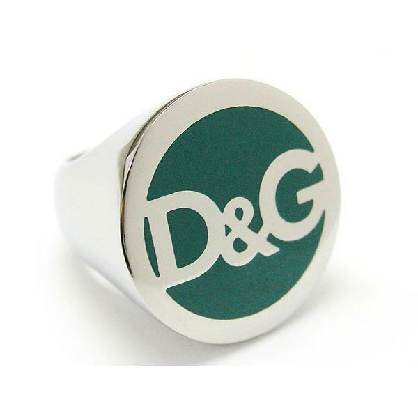 c23305d0 Dolce & Gabbana D&G Dj0061 Szilver/green Fashion BRAND Name Ring Size 8 for  sale online | eBay