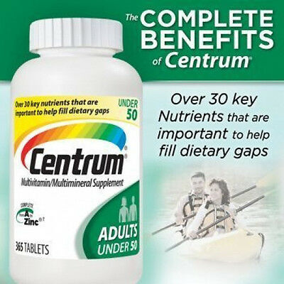 CENTRUM complete Multivitamin 365 tablets FOR ADULTS UNDER 50 multimineral