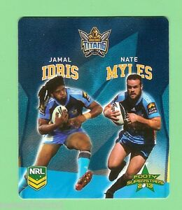 TIP-TOP-NRL-2013-RUGBY-LEAGUE-FOOTY-SUPERSTARS-CARD-37-IDRIS-MYLES-TITANS