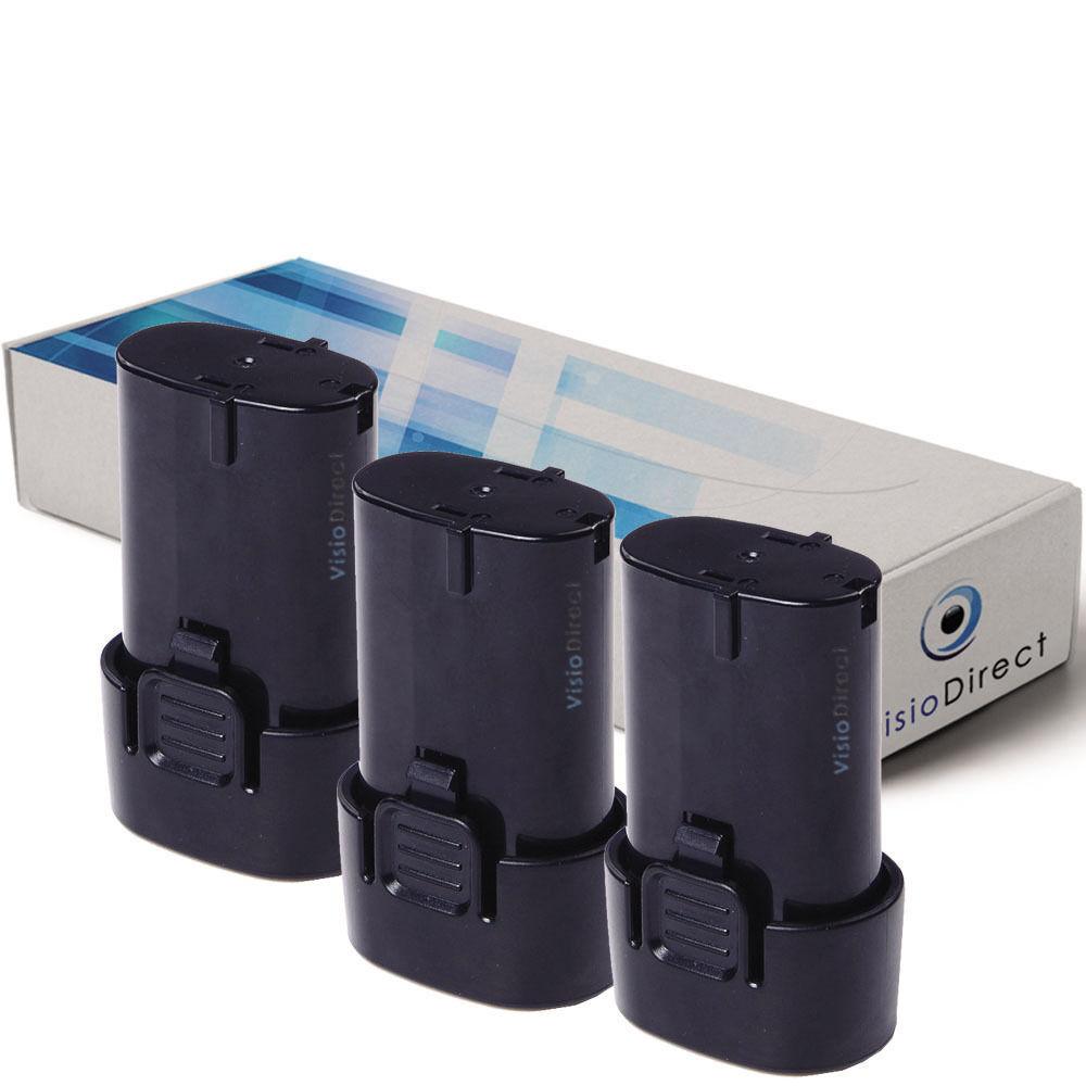 Lot de 3 batteries 7.2V 1500mAh pour MAKITA CL070 - Société Française -