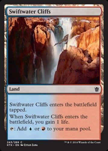 4x Swiftwater Cliffs MTG Khans of Tarkir NM Magic Regular
