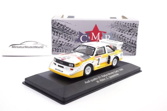 #WRC003 CMR Audi Quattro Sport E2 #2 Monte Carlo 1986 Röhrl/Geistdörfer - 1:43
