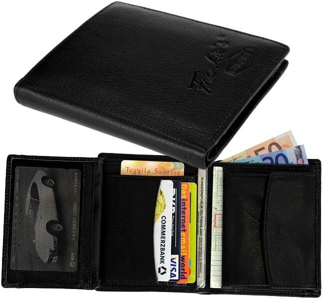Damen Herren-Geldbörse, 20 Fächer, FRANKIES GARAGE Geldbeutel Portemonnaie Leder