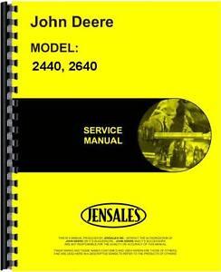 John deere tractor repair manual 2040, 2510, 2520.