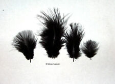"""Marabou Feathers Small 1-3/"""" fluffs BROWN  7 grams approx 105 per bag"""
