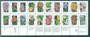 US-2677-96-wild-flowers-block-of-20-of-stamps-P-2222-ISSUED-1992-VALUE-29c-ea
