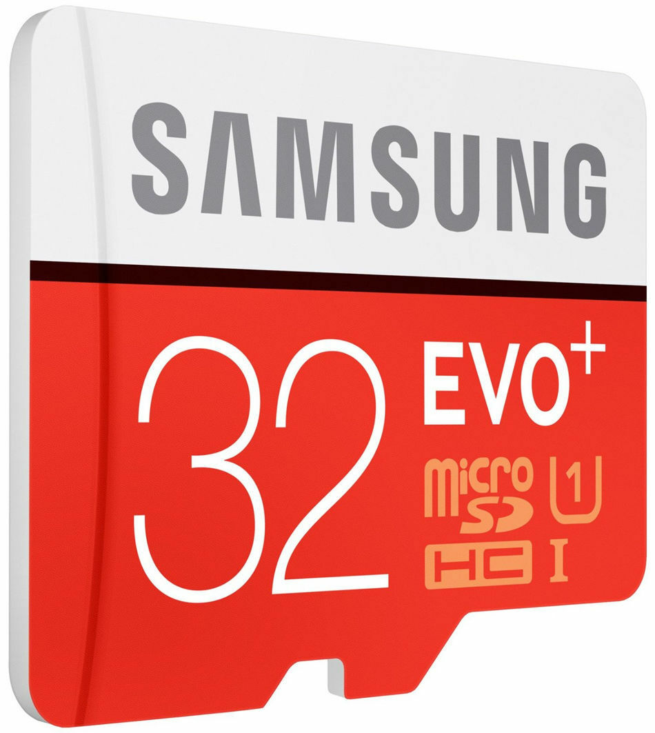 Samsung EVO+ 32GB 80MB/s Class 10 Micro SD SDXC Speicherkart Adp Sep