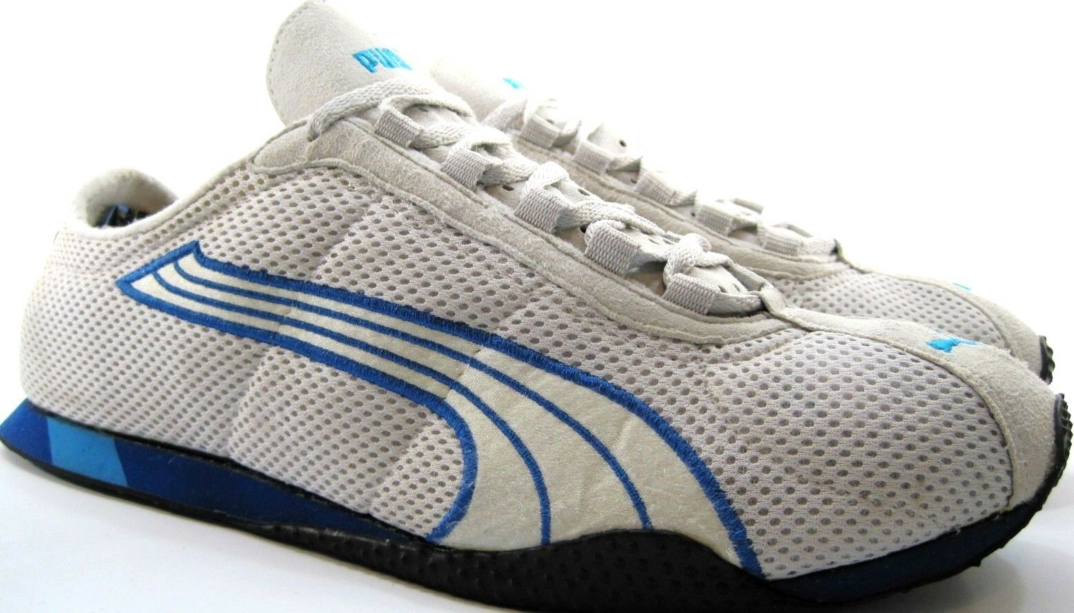 Puma Men Athletic Trainers Running Shoes Size 13 Euro 47 Gray Blue Mesh Leather