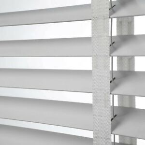 50mm-Slat-Real-Hard-Wood-Venetian-blind-150cm-wide-x-160cm-DOVE-GREY-with-Tapes