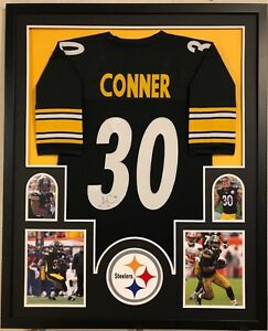 def6f4878 Image is loading FRAMED-PITTSBURGH-STEELERS-JAMES-CONNER-AUTOGRAPHED-SIGNED- JERSEY-
