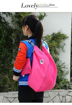 Multi-functional Folding Shoulder Bag Backpack Nylon Storage Travel Shopping Bag