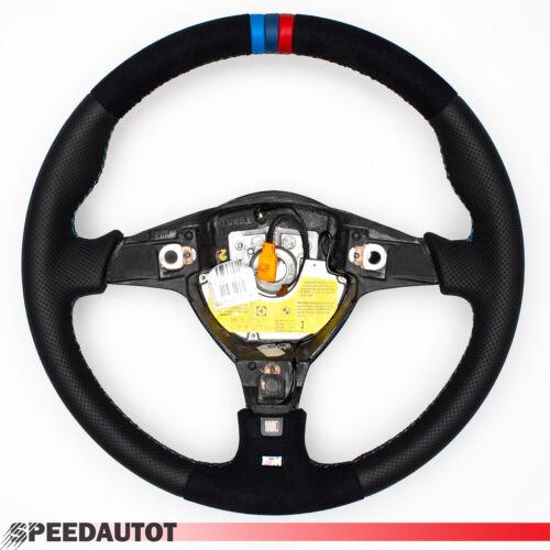 Volante BMW serie e31 e34 e36 nuevo lederrbezug Alcantara kba70201 con schleifring