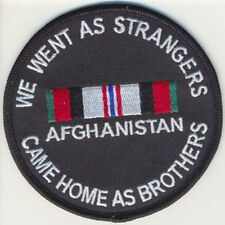 We went as Strangers Came Home as Brothers Afghanistan War Patch  Veteran new