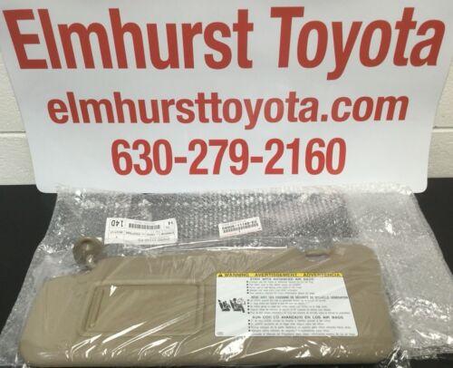 Toyota Highlander 08-13 Sand Beige Driver Side Sun Visor Genuine OEM w// vanity