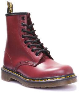Neueste Mode wie man serch heiß-verkaufendes spätestes Details zu Dr Martens 1460 Smooth Unisex Rot Leder Matt Stiefel EU GraBe 36  - 47