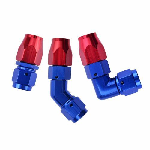 Swivel Enforced Oil//Fuel//Gas Hose Line AN Fitting Adapter Male//Female Aluminum
