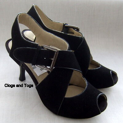 NEW CLARKS HANDCRAFTED TYRA ASHA WOMENS BLACK SUEDE SHOES